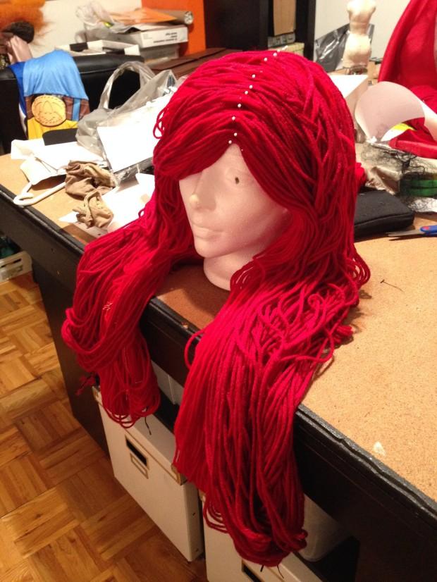 Wool yarn pinned!